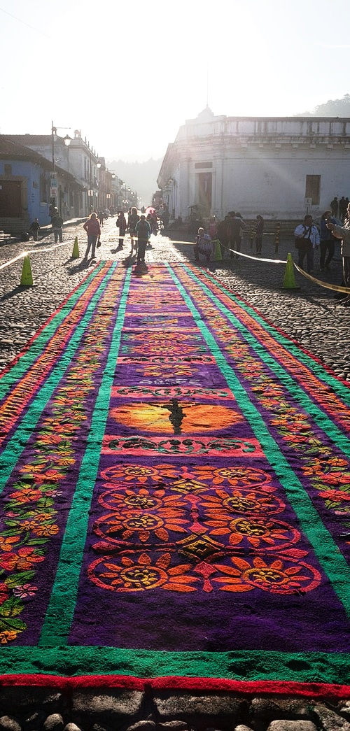 Street Carpets made for Holy Week Semana Santa in Antigua Guatemala