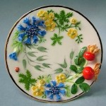Inspired by plants Porcelain miniature.