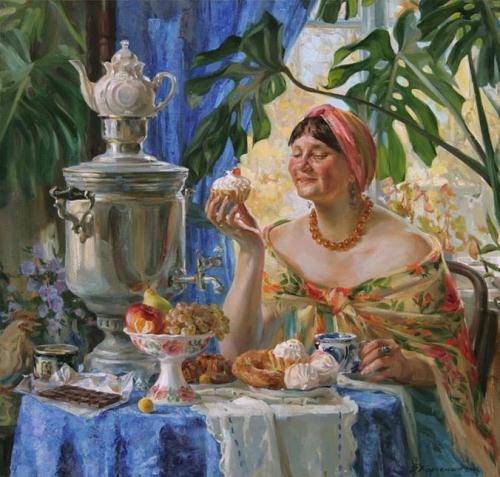 Sweet tooth. Painting by Kaluga based artist Viktoria Kharchenko