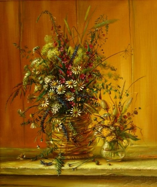 Two bouquets. Oil on canvas, 1998