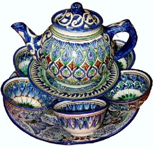 Uzbek pottery art