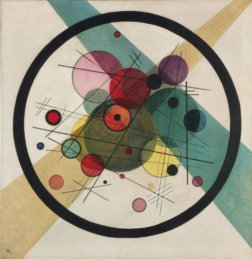 Russian painter Wassily Kandinsky. Circles within a Circle 1923