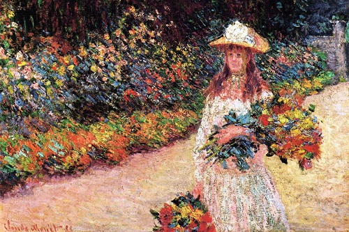 Why Claude Monet destroyed his paintings. Young Girl in the Garden at Giverny - Claude Monet