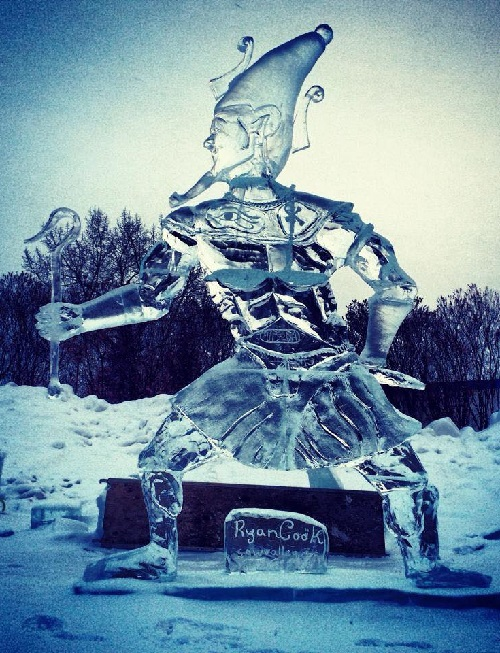 first ice sculpture by Ryan Cook