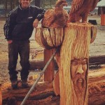 kaslo's protectors. Ryan Cook chainsaw sculpting