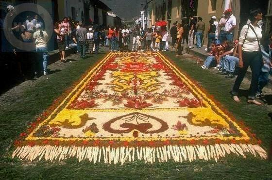 Antigua Guatemala street carpet Alfombras (Sand Carpet)