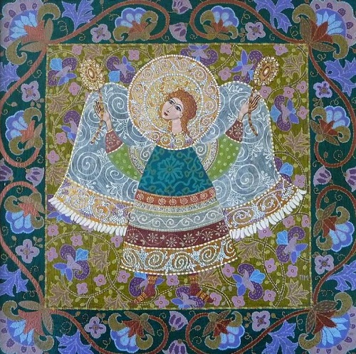 Angels. Decorative painting by Marina Polyakova