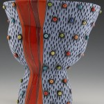 Ceramic Vase with Multicolored Polka Dots