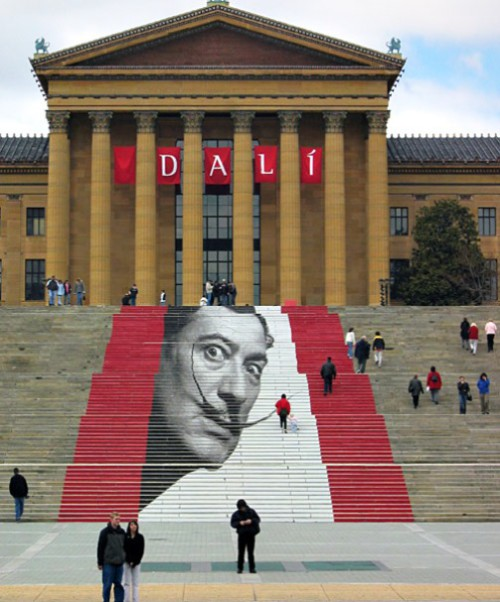 Dali by other artists. Dali on the Rocky Steps