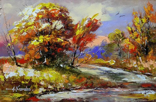 Beautiful Landscape painting by Alexander Khodyukov