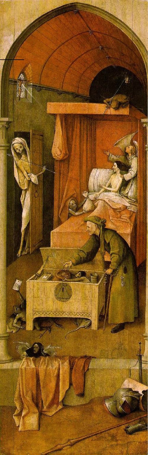 Hieronymus Bosch Ship of Fools symbolism. Reconstruction of the triptych (right part)