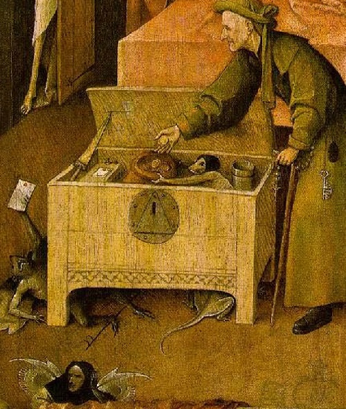 Hieronymus Bosch Ship of Fools symbolism. Right part of the triptych
