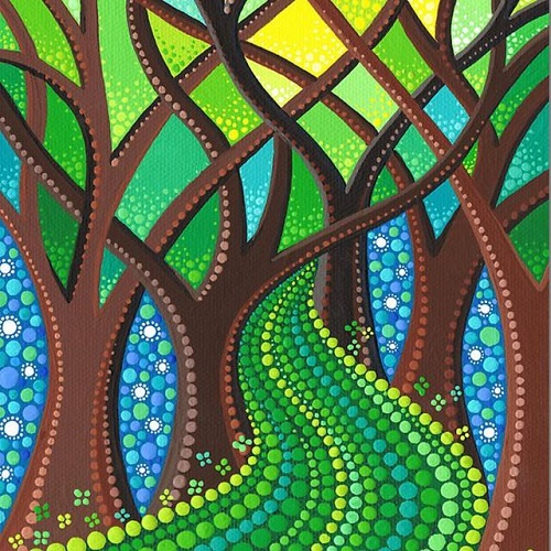 St. Patrick's day mandala painting by Elspeth McLean