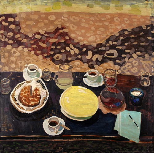 Still life with a yellow plate, 1989
