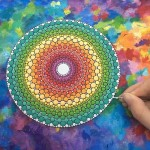 Working in a circular space really centres me', says Elspeth McLean painting mandala stones