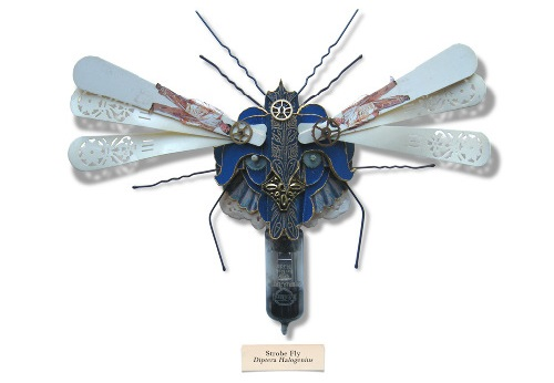 A series of works 'The Litter bug' - tiny insects from waste made by British artist Mark Oliver