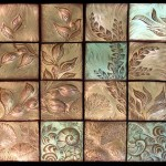 Panno of ceramic tiles
