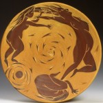 Motherhood. ceramic plate