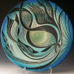 Waves. Ceramic plate