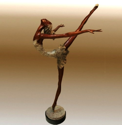 Dancing with passion. Bronze Sculpture