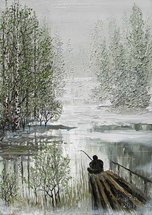 Fisher, Oil on canvas, 2011