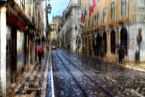 From the series 'Lisbon sketches'. Photo art by Eduard Gordeyev