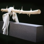 Unique wooden sculpture by professor Tom Eckert