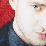 Justin Timberlake. Mosaic portrait by art workshop of Tatiana Smirnova