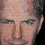 Kevin Costner. Mosaic portrait by art workshop of Tatiana Smirnova