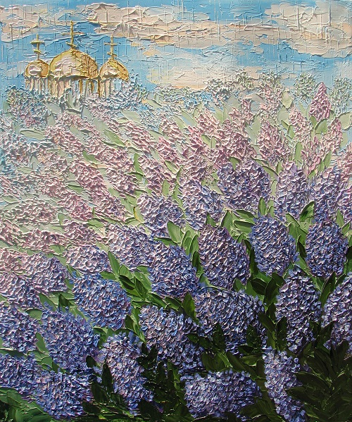 Lilac, Oil on canvas, 2011
