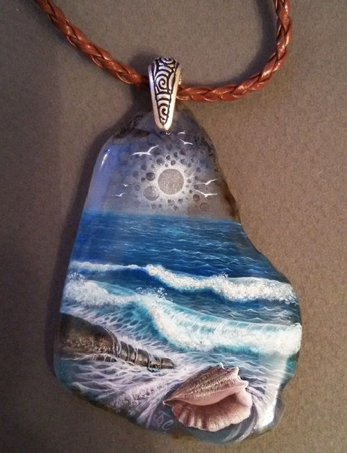 Listening to the sea pendant art kaleidoscope listening to the sea pendant aloadofball Choice Image