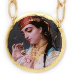 Emile Lecomte-Vernet, young Egyptian artist – Medallion with reproduction