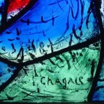 Signed Chagall stained glass in Notre-Dame de Reims