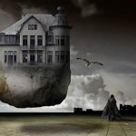House in the air. Photo art by Belgian photographer Ben Goossens