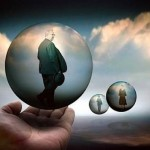 Inside the bubbles. Photo art by Belgian photographer Ben Goossens
