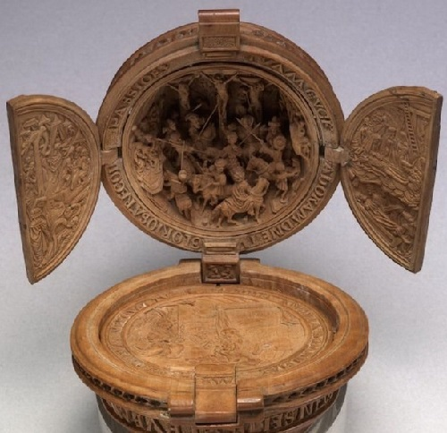Prayer Nut medieval wood carving art