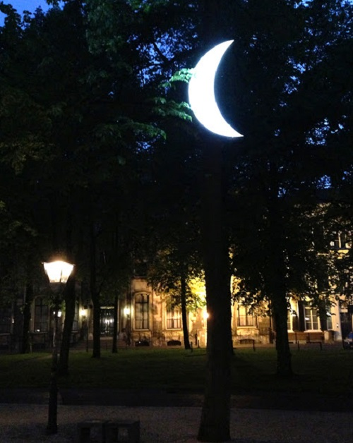 Private Moon in the Voorhout alley, the Hague. The exhibition Russia XXI. May, 2013