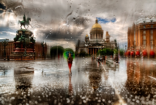 Rainy city - Photo art by Eduard Gordeyev