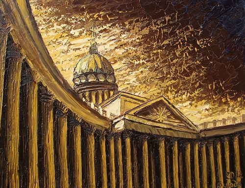 The Kazan Cathedral, Oil on canvas, 2012