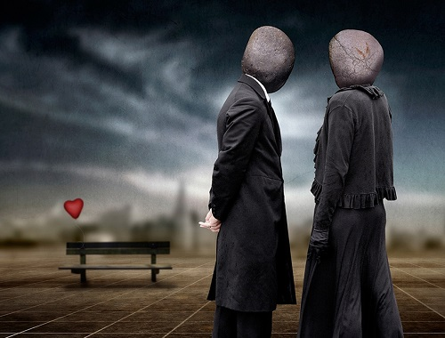 """Inspired by Rene Magritte """"The blind date"""""""