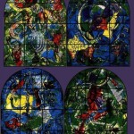 The set of stained glass in a modest church Pocantico Hills, lost in a peaceful province aside from the big cities. USA