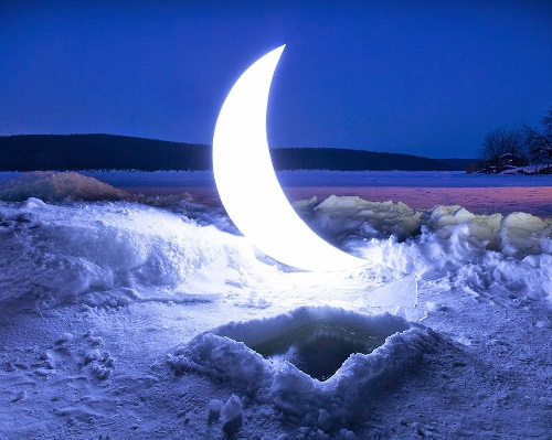 Travel of Private moon in the Urals. 2015. Private Moon installation by Leonid Tishkov