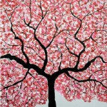 Treescape. Acrylic on canvas. Painting by Sumit Mehndiratta, India