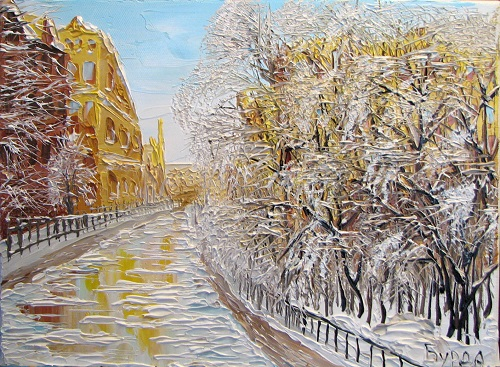 Winter morning, Oil on canvas, 2011