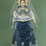 Beautiful doll in folk dress. Biscuit porcelain, textiles, acrylic paint. Artist SY Krishtan