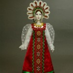 Author IV Bannikova. Doll in Russian costume. Biscuit porcelain, textiles, acrylic paint