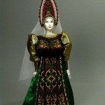 Winter outfit. Doll in Russian costume. Biscuit porcelain, textiles, acrylic paint. Author IV Bannikova