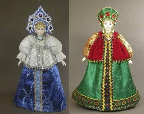 Hanging doll in Russian costume. Artist SY Krishtan