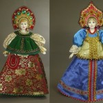 Two beautiful Hanging dolls in Russian costume. Artist SY Krishtan