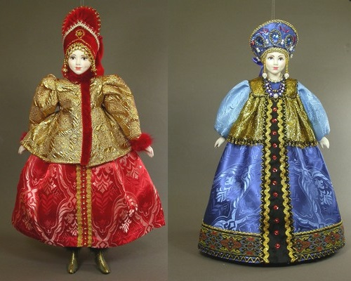 Interior (Hanging) doll in Russian costume. SY Krishtan